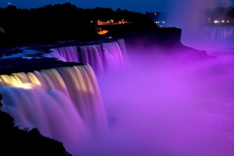 Google Niagara Falls Night