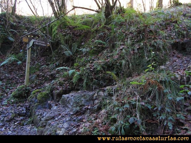 Ruta de las Foces del Rio Pendón y Varallonga: Indicador de las Foces del Pendón