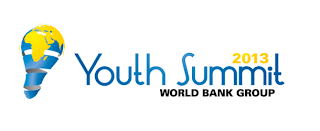 The 2013 Youth Summit is an event championed by the Junior Professional Associates (JPA) Program in collaboration with other units at The World Bank Group (WBG).  Before the summit, a Development Case Study Competition aims to provide youth with the opportunity to propose innovative solutions and business products for real development issues that the WBG and external partners are striving to solve.  The summit will feature notable panelists of the development community, and will provide a forum for young people from around the globe to share innovative ideas and solutions to current development challenges to create opportunities for youth employment and job creation.