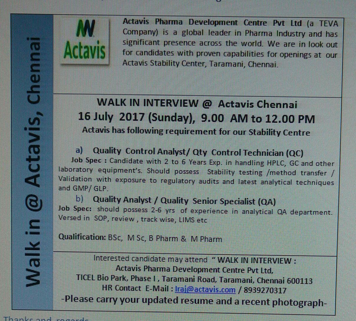 Actavis Pharmaceuticals Jobs | Jobs2Careers