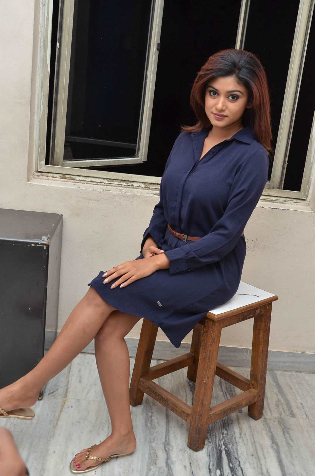 Actress Oviya In Spicy Blue Dress Latest Gallery