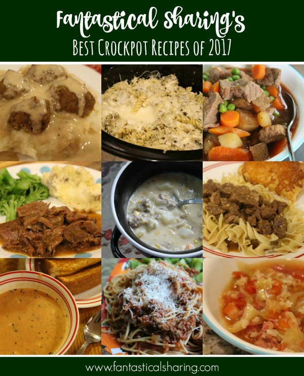 Fantastical Sharing's Best Crockpot Recipes of 2017 #crockpot #slowcooker #recipe #recipes #Countdownto2018