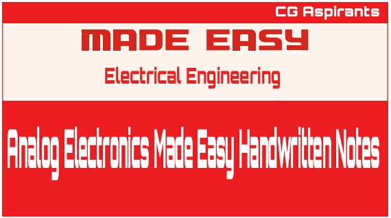 Analog Electronics Made Easy Handwritten Notes