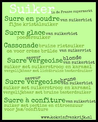 Wegwijs in de Franse supermarkt: suiker
