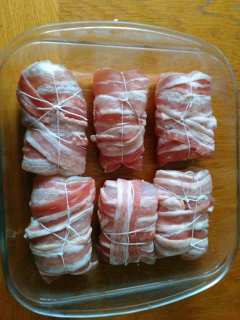 Paupiettes de lotte au bacon crues