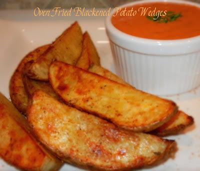 Oven Fried Blackened Potato Wedges