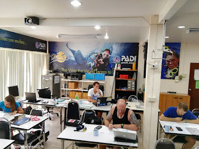 The PADI IDC for November-December 2016 on Phuket is under way