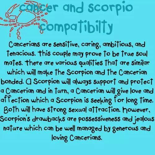 Are cancer and scorpio a good match
