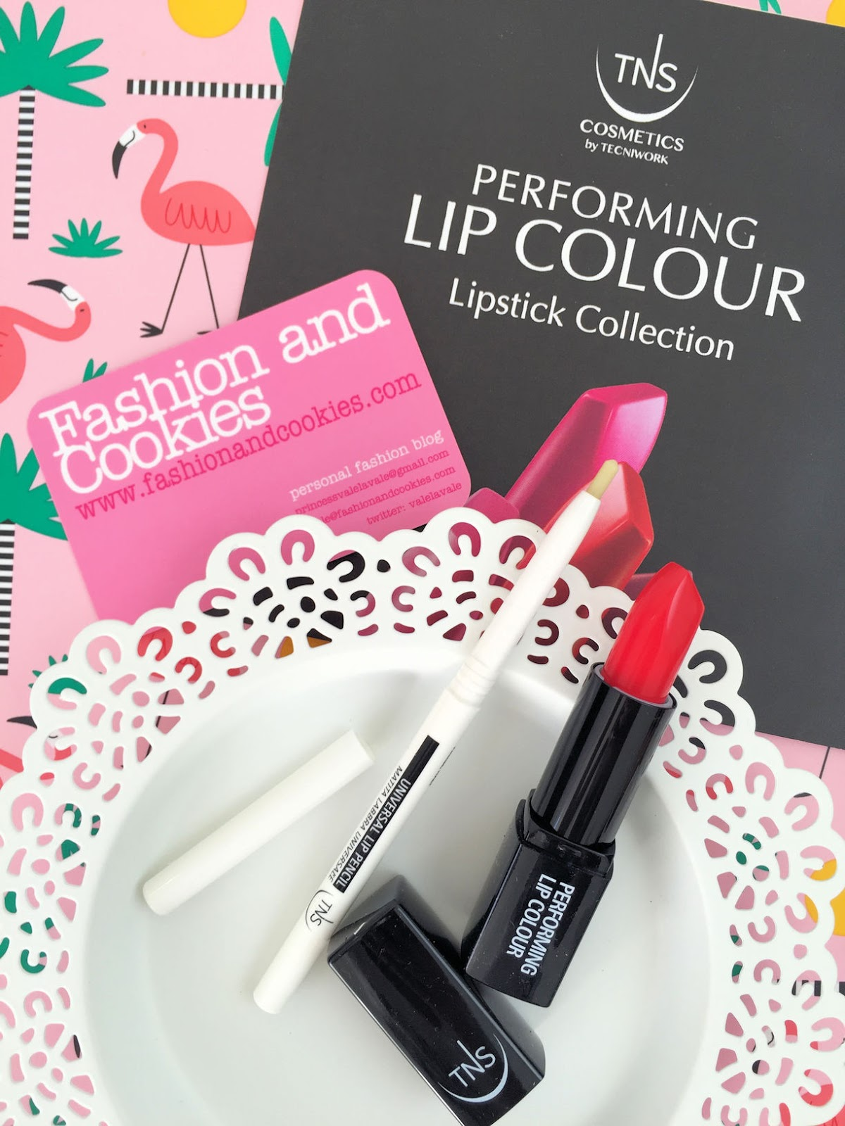 TNS Cosmetics Universal Lip Pencil and My Funny Valentine review on Fashion and Cookies beauty blog, beauty blogger