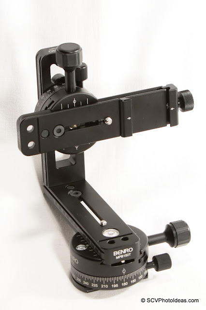 Compact Benro Multi Row Panorama Head middle-set assembly overview