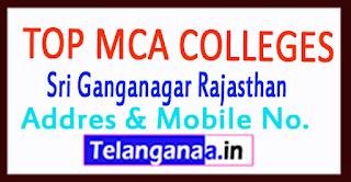 Top MCA Colleges in Sri Ganganagar Rajasthan