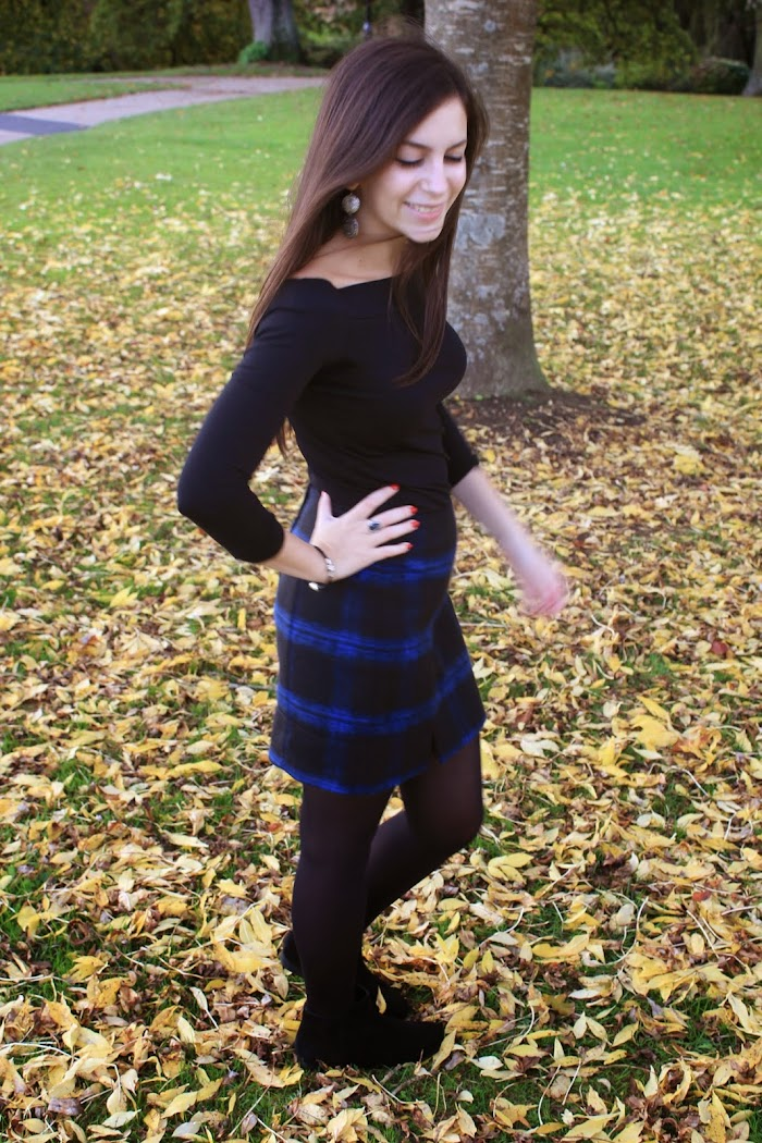 Blue Tartan Skirt from New Look