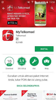 Cara Cek Paket Kuota Internet Telkomsel Simpati As flash loop 4g Android