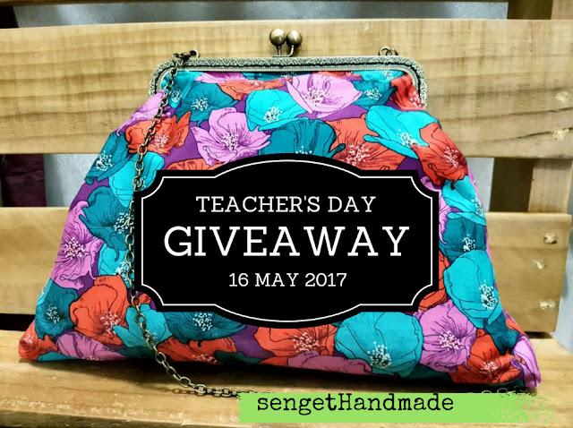 #giveaway #selamathariguru #sengethandmade #happyteacherday