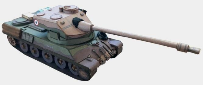 PAPERMAU: French Medium Tank Lorraine 40T Paper Model In HO