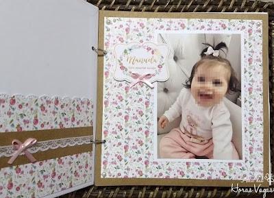 livro de mensagens artesanal personalizado aniversário 1 aninho jardim encantado floral aquarelado boho chic papel kraft álbum decorado fotos menina bebê