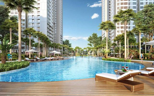 Bể bơi ngoài trời tại Eco City Long Biên