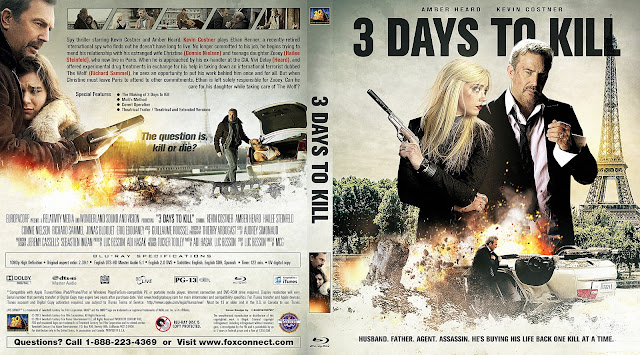 3 Days To Kill Bluray Cover