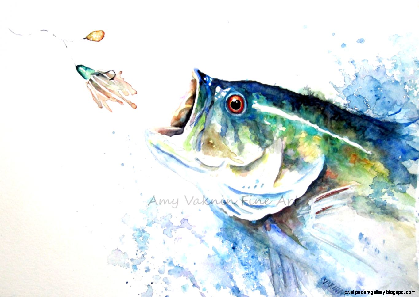 Largemouth Bass Jumping Painting | Wallpapers Gallery
