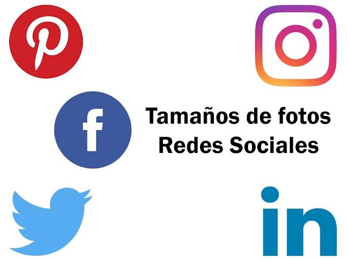Tamaños de fotos en Redes Sociales