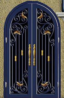 Desain, Pintu, Head, Besi, Tempa, Klasik, Mewah