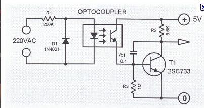 Nerdstuff: 220 volt Optocoupler detector for arduino