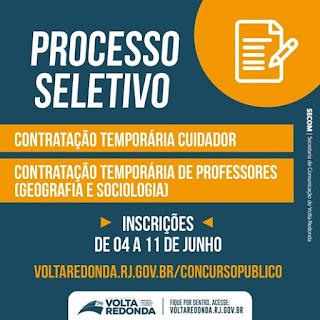 processo seletivo município de Volta Redonda