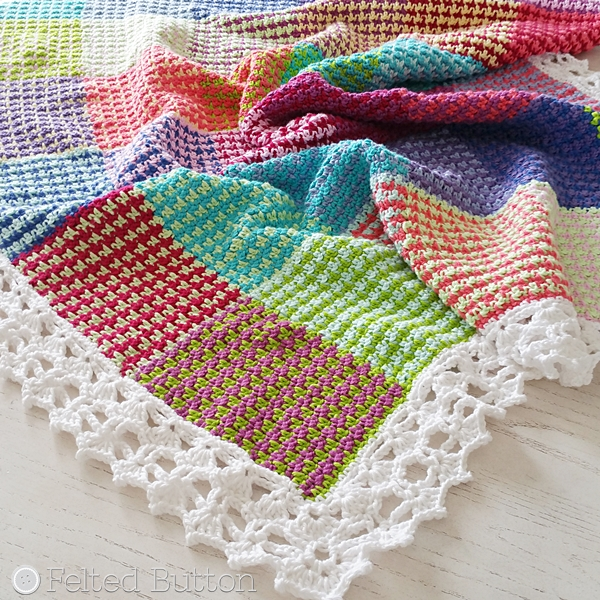 Washburn Blanket crochet pattern by Susan Carlson of Felted Button -- Colorful Crochet Patterns