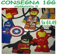 batman lego personaggi collane gadget regalo festa compleanno bambini