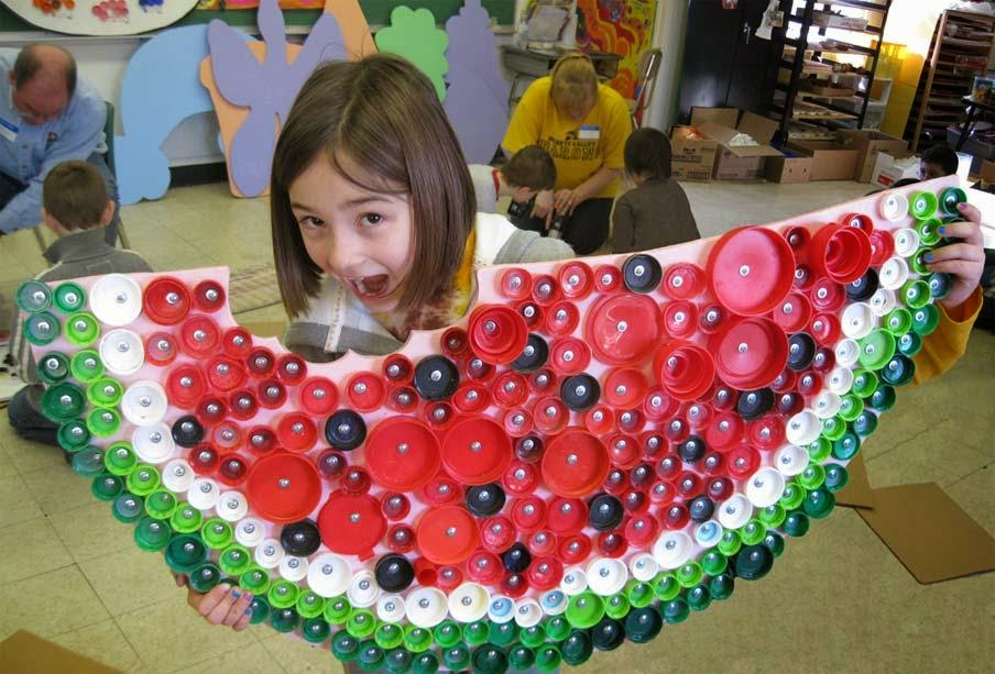 Craft For Kids Recycle Bottle Cap Arts And Crafts Ideas Projects