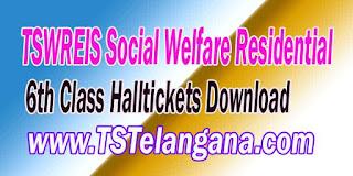 Telangana TSWREIS Gurukulam 6th Class Entrance Test 2017 Halltickets Download