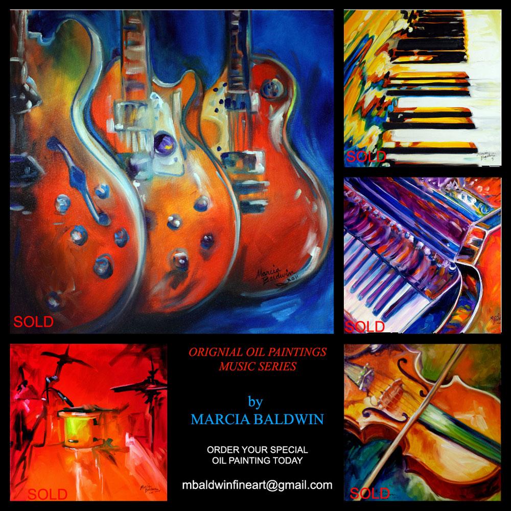 daily paintings fine art originals by marcia baldwin guitar jazz blues original oil painting. Black Bedroom Furniture Sets. Home Design Ideas