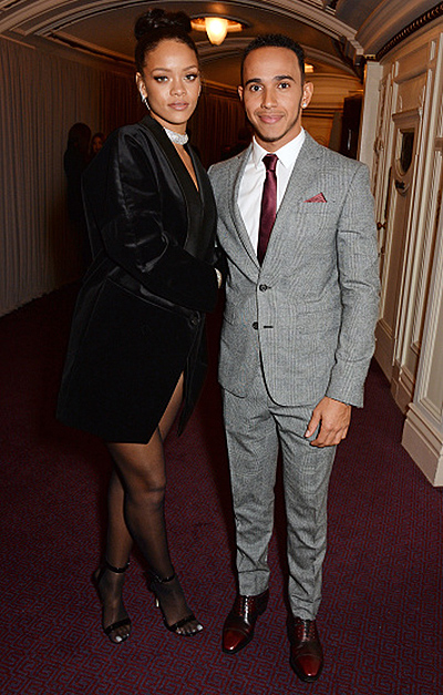 Lewis Hamilton with Rihanna