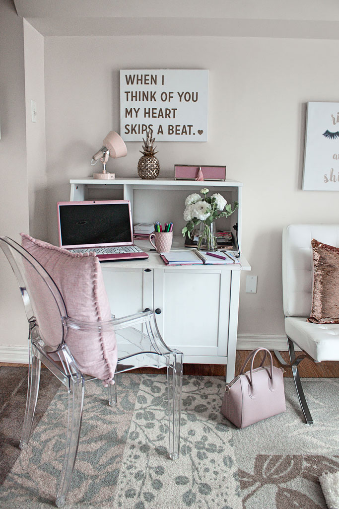 Three ways to style an office decor how to post pink and gold