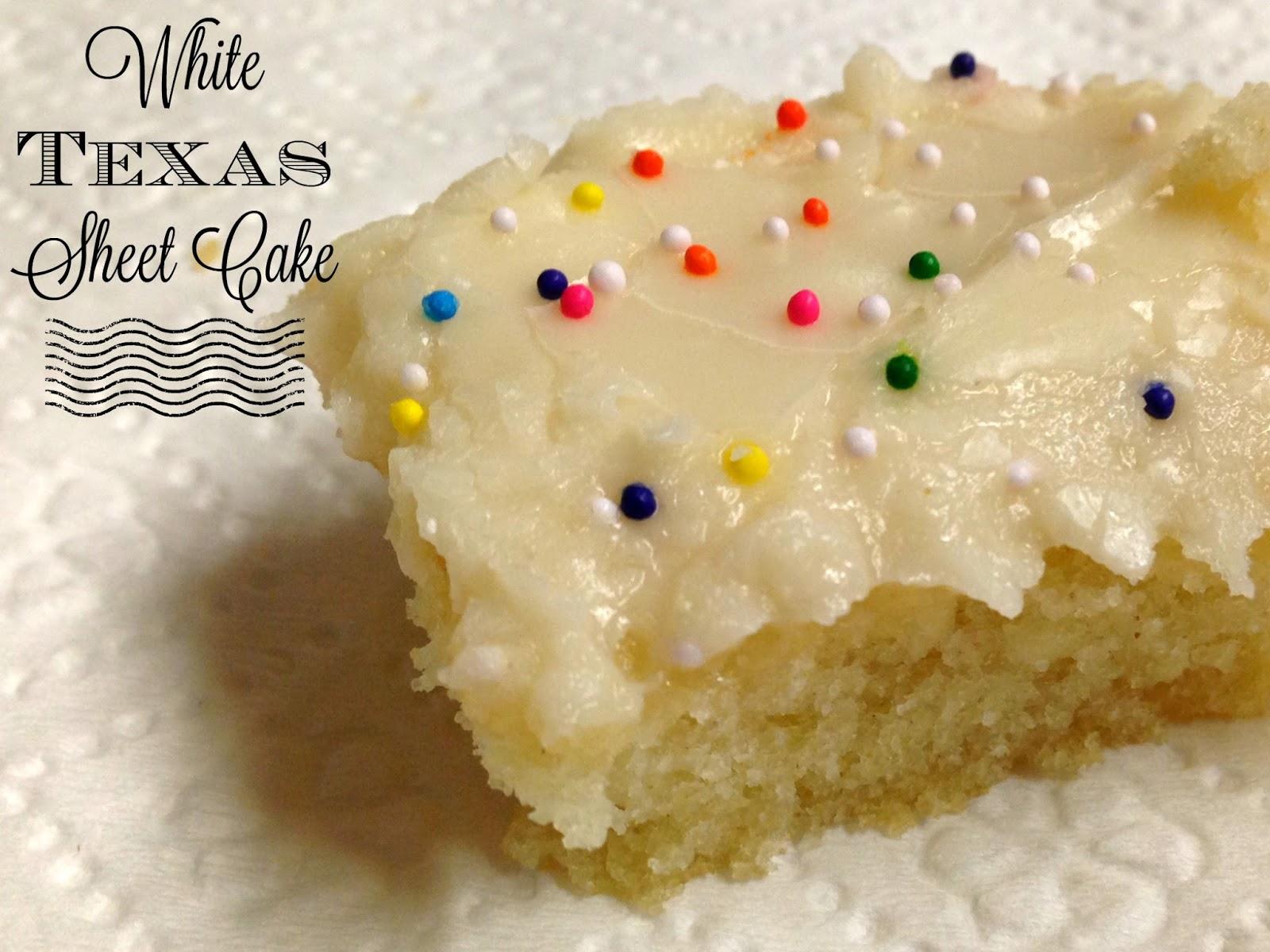 The Rehomesteaders White Texas Sheet Cake