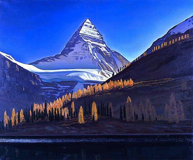 Rockwell Kent painting of mountains
