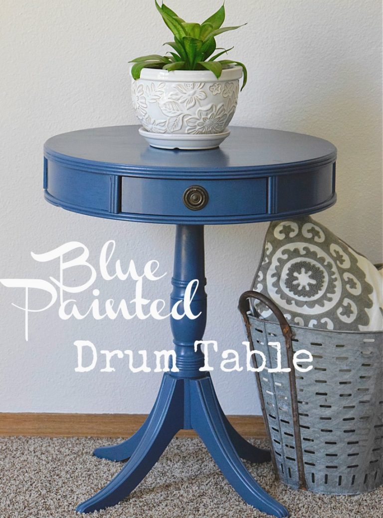 painted blue table, blue table, how to paint a table