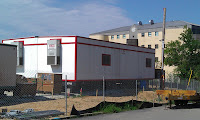 Modular Office Trailers can be rented and installed quickly.