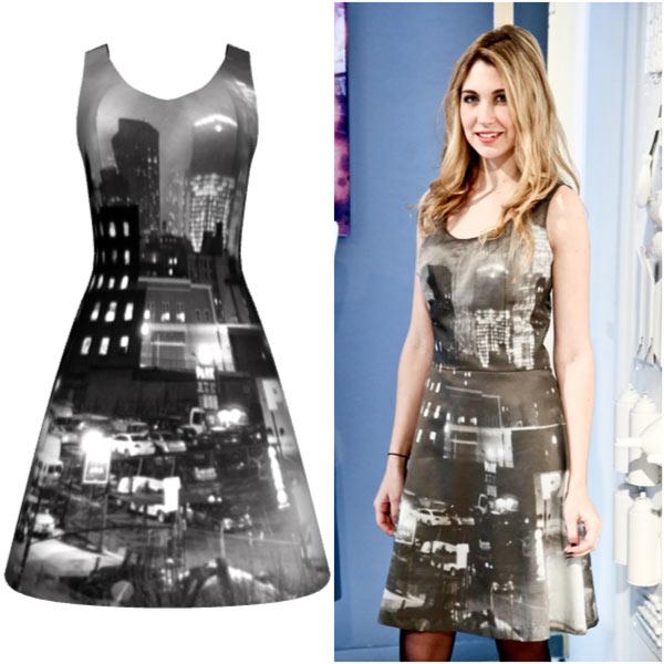 Diseño de vestido impreso en sublimación de tinta