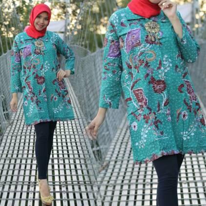 30 Model Baju Batik Atasan Wanita 2017
