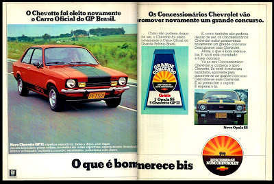 propaganda Chevette GP II - Chevrolet - 1976. reclame de carros anos 70. brazilian advertising cars in the 70. os anos 70. história da década de 70; Brazil in the 70s; propaganda carros anos 70; Oswaldo Hernandez;
