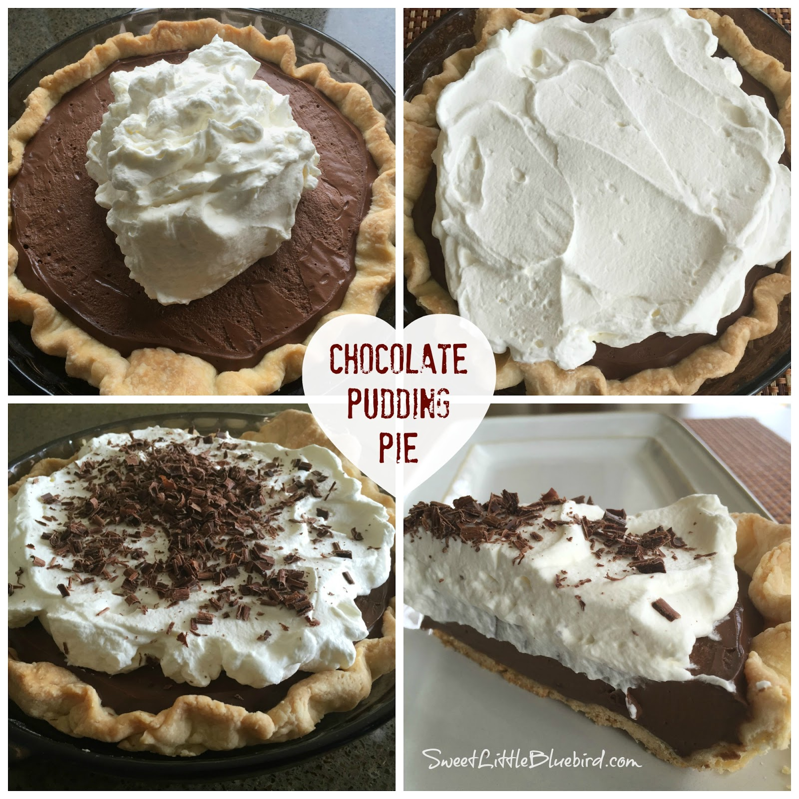 Sweet Little Bluebird: The Best Homemade Chocolate Pudding Pie