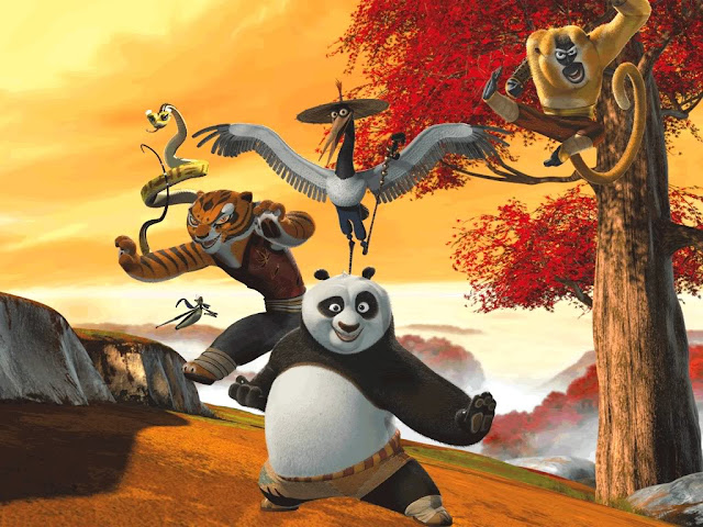 Po training in Kung Fu Panda 2008 movieloversreviews.filminspector.com