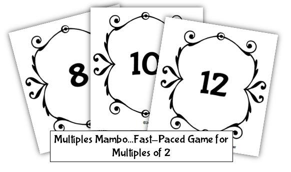 Math Coach's Corner: Multiples Card Game Freebie
