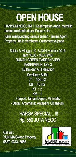 Open House Rumah Murah Pasirimpun Bandung