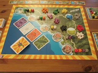 setup for two player game of Cinque Terre