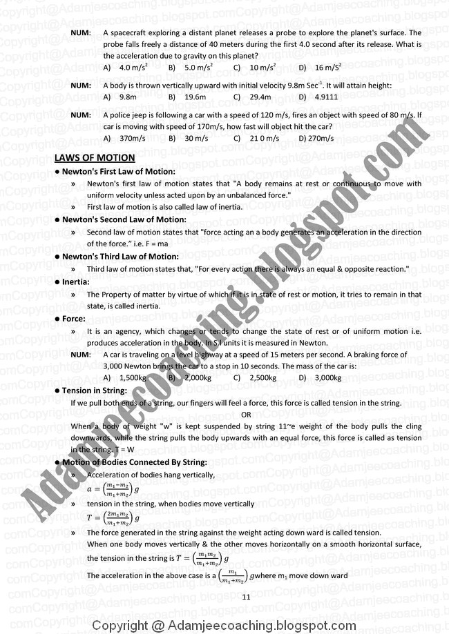NCERT Solutions for Class 11 Physics PDF