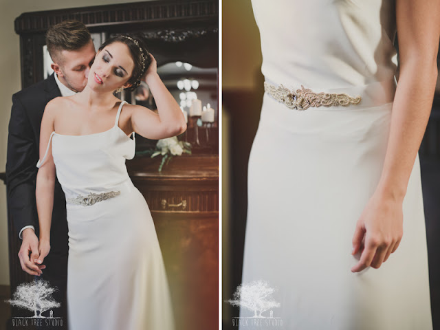 Koronkowy pas na suknię ślubną
