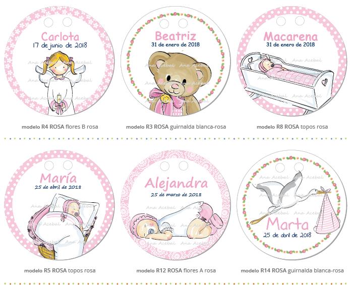 etiquetas bautizo niña personalizadas original