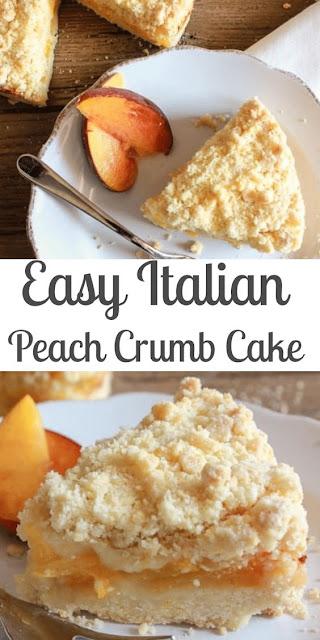 Italian Peach Crumb Cake